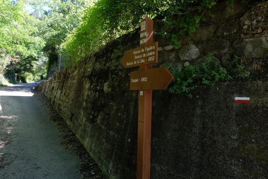 Sentier pédestre à Sospel