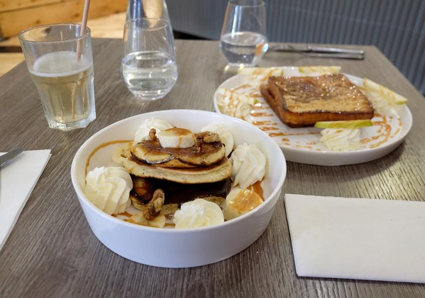Pancakes du brunch de Comme un Dimanche à Nice