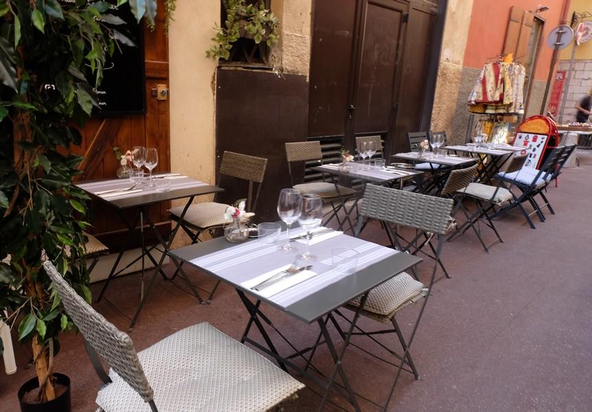 Terrasse du restaurant Le Panier à Nice