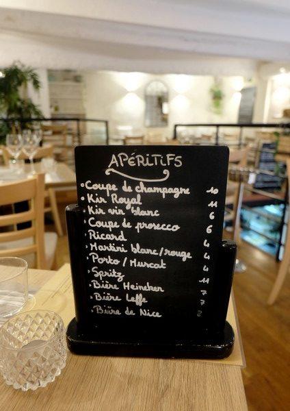 Apéritifs du restaurant Le Panier à Nice