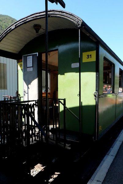 Plateforme du train des pignes à vapeur