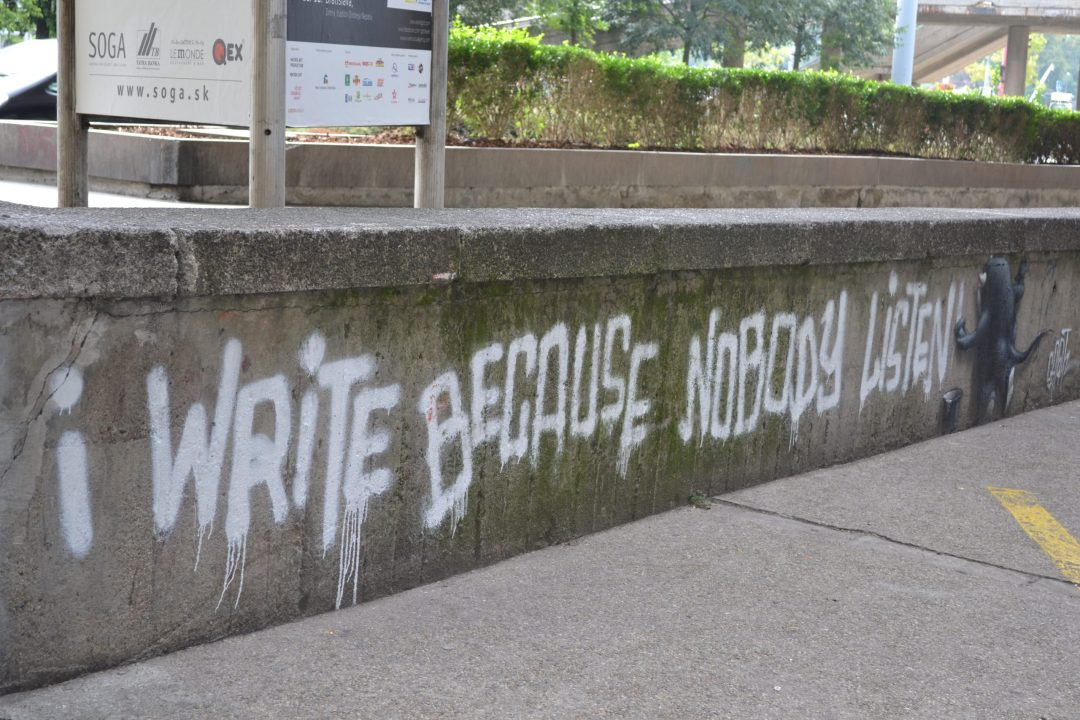 La Newsletter Parfum de La Parfumerie - Graffiti I write because Nobody Listens