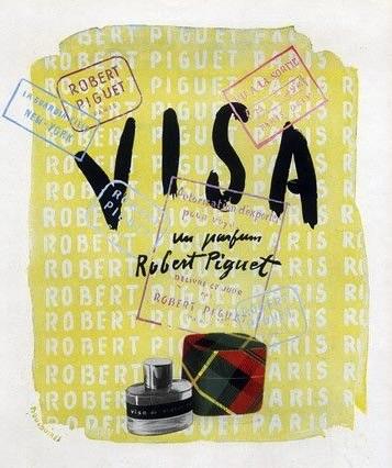 Visa, parfum d'époque de Robert Piguet, réapparait en 2007 dans une politique de modernisation