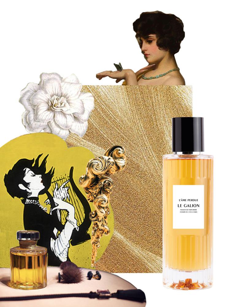 Affiche publicitaire du parfum l'Âme Perdue de la marque Le Galion. Loin de ses clichés Has Been