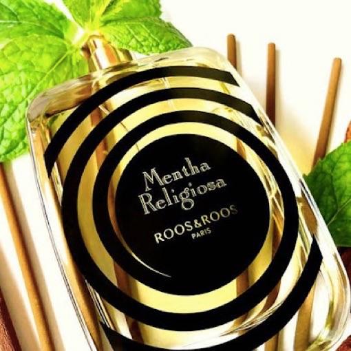 Flacon du parfum Mentha Religiosa de la marque Roos & Roos, ex Dear Rose, notre avis.