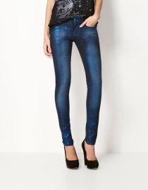 Pantalones denim metalizado