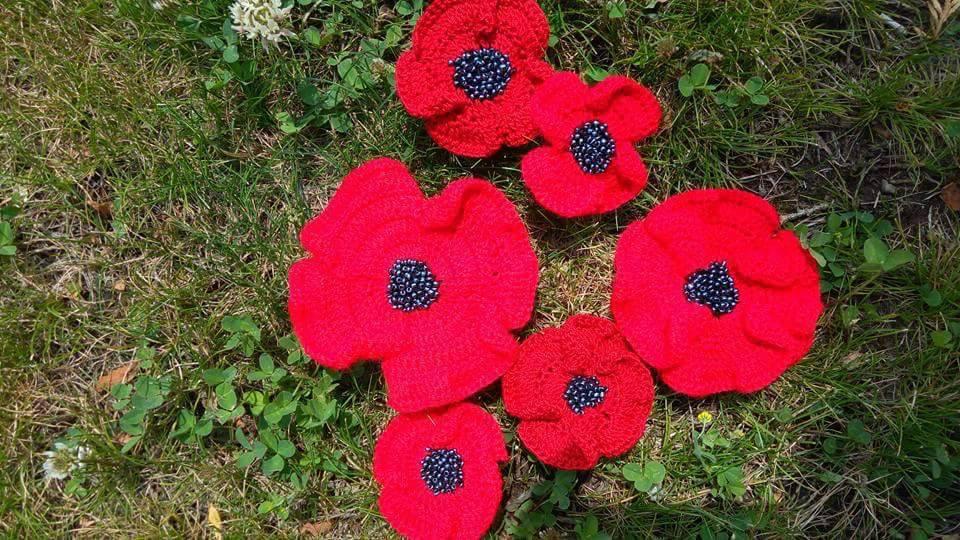 Atelier de crosetat: Flori de camp pentru ie/ Mac crosetat
