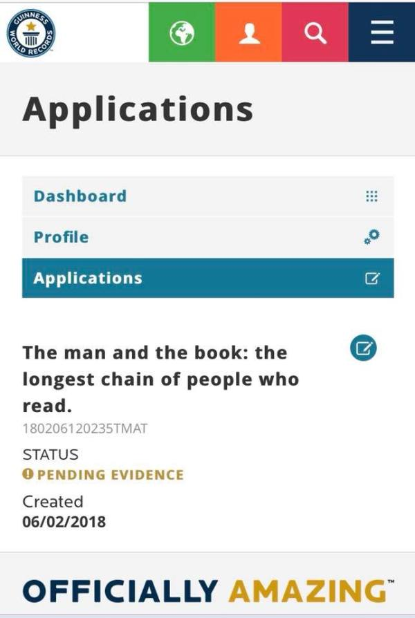 Omul si cartea - record mondial