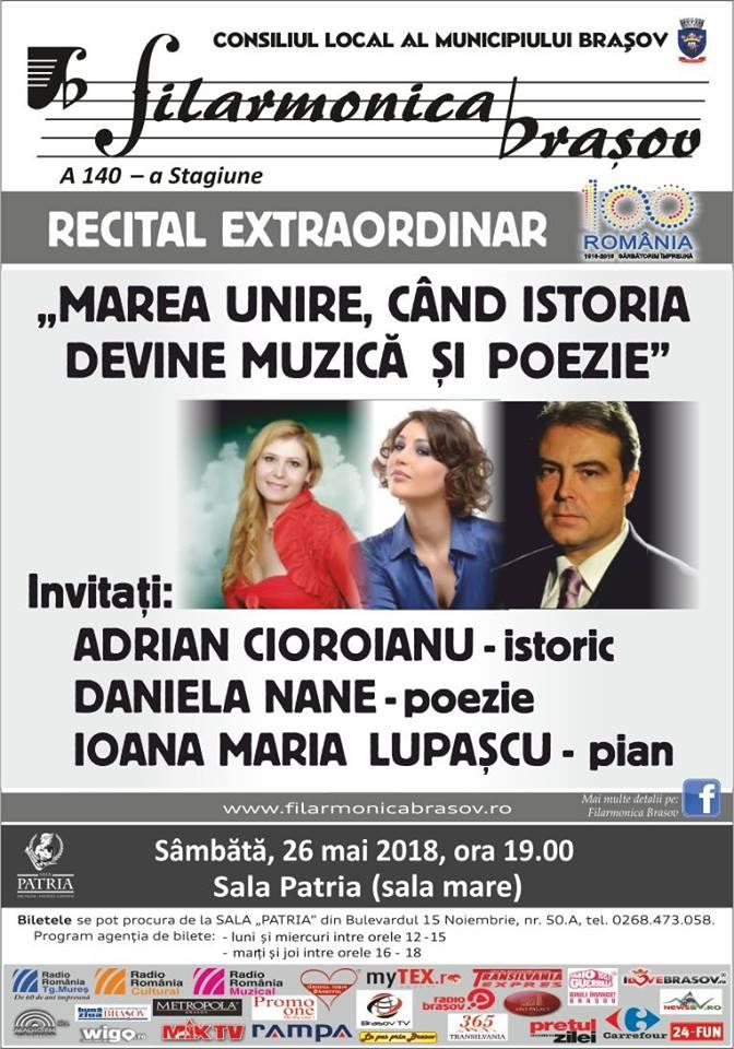 "Recital Extraordinar ""Cand Istoria devine Muzica si poezie"""