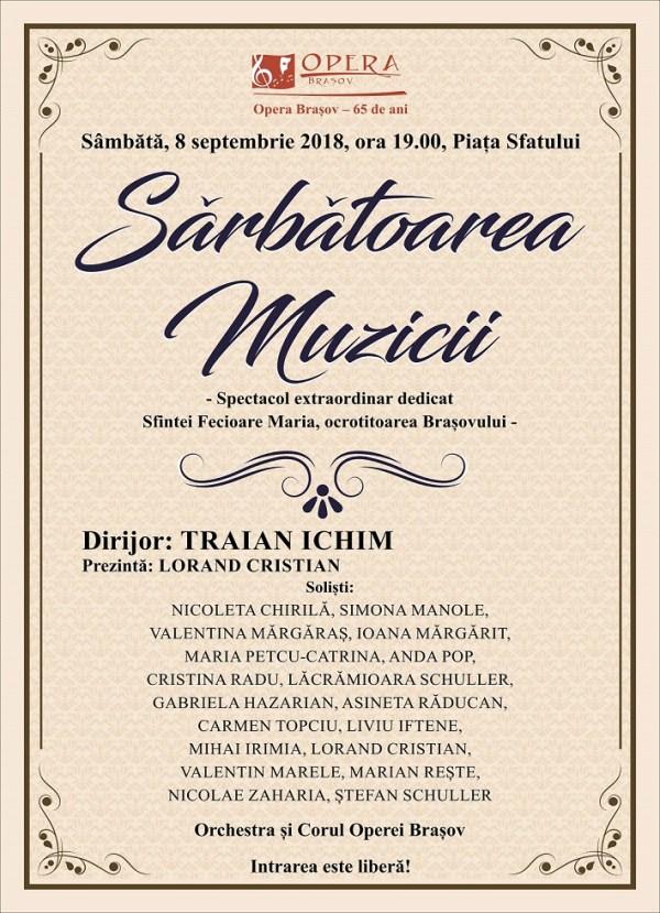 Panou Concert Piata Sfatului 8sept2018