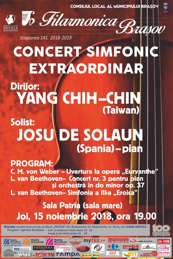 Filarmonica - concert 15 noiembrie 2018
