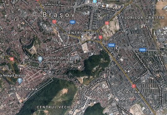 Imagine partiala satelit Brasov