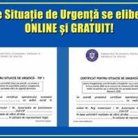 Platforma pentru emiterea Certificatelor pentru Situație de Urgență este acum disponibilă