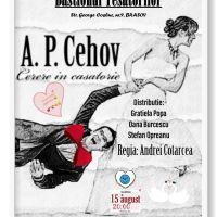 """Comedia """"Cerere in casatorie"""" de A.P.Cehov la Bastionul Artiștilor"""
