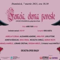 """Cadou de 8 Martie de la Opera Brașov:  concertul extraordinar """"Femeia, eterna poveste"""""""