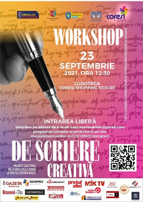 Poster workshop scriere creativa