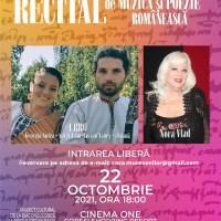 Recital de muzică și poezie românească la Cinema One din Coresi Shopping Resort