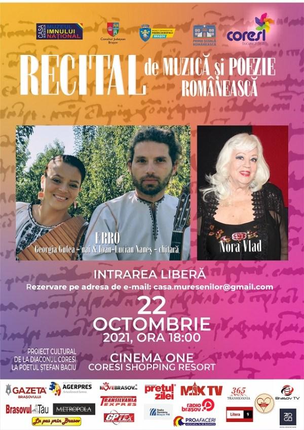 Poster RECITAL DE MUZICA SI POEZIE