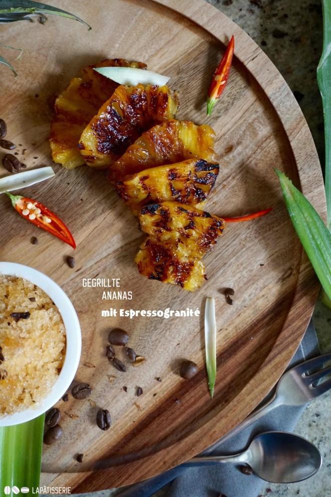 Doch lieber mehr von der gegrillten Ananas, die auch noch mariniert ist? Oder doch das Granité aus Cold Brew Coffee?