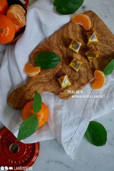 Wunderbare Pralinen gefüllt mit einer Ganache aus Vollmilchschokolade und Mandarine.