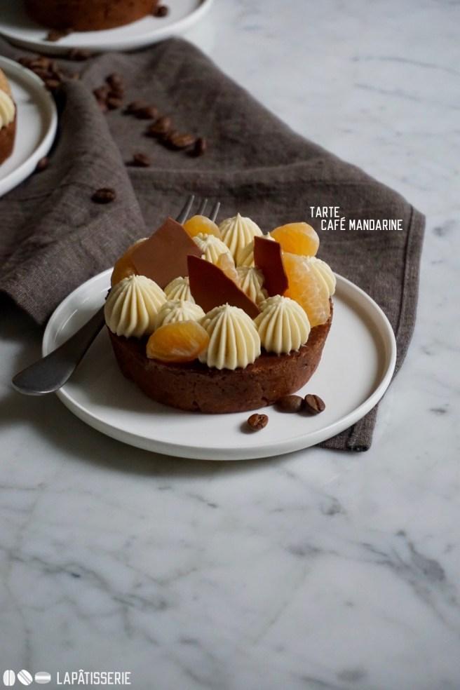 Lasst uns feiern mit meiner Tarte mit Kaffee und Mandarine.