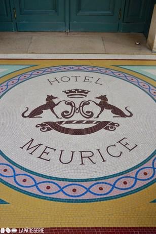 Mosaik vor Le Meurice