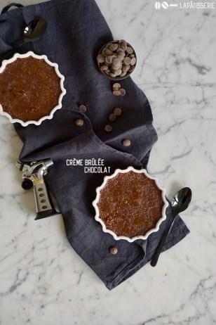 Es muss nicht immer normale Crème Brûlée sein, wie wäre es mit einer Version mit dunkler Schokolade?