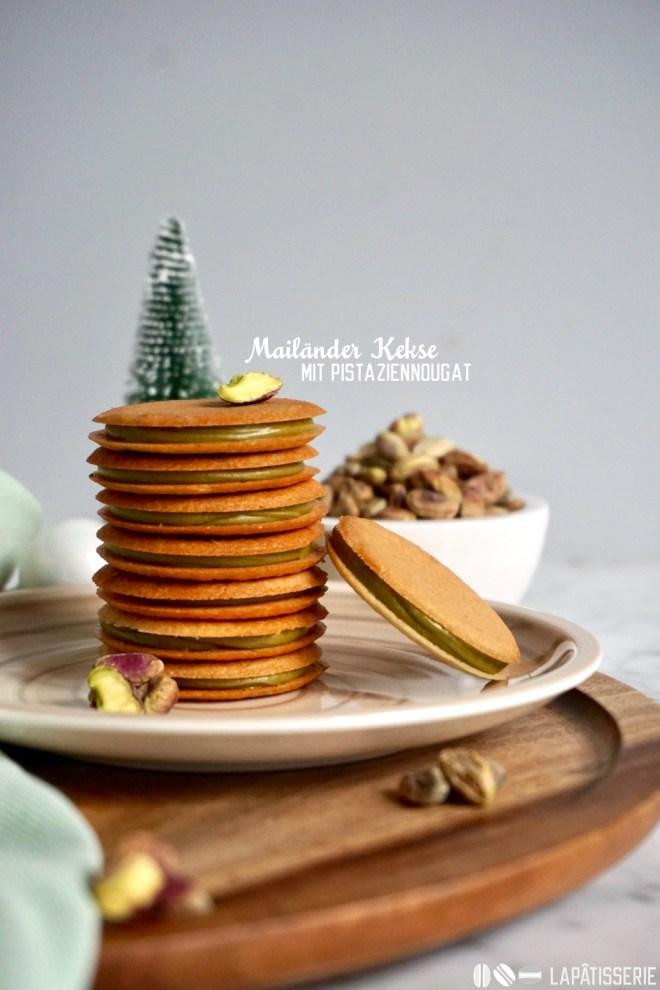 Mailänder Kekse mit Pistazie