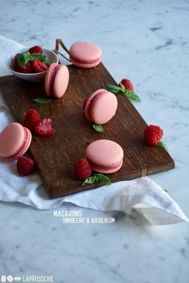 Macarons gehen immer auch im Sommer oder wer kann Himbeere und Basilikum widerstehen?