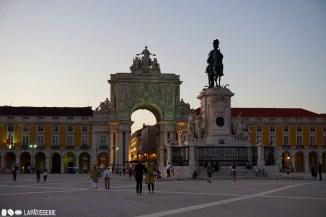 Lissabon kurz vor Sonnenuntergang