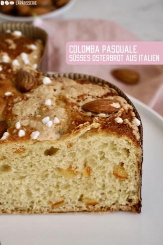 Süßes Rezept für den Osterbrunch: Feine Colomba pasquale aus luftigem Hefeteig mit Orangeat und Mandeln oder einfach süßes Osterbrot aus Italien