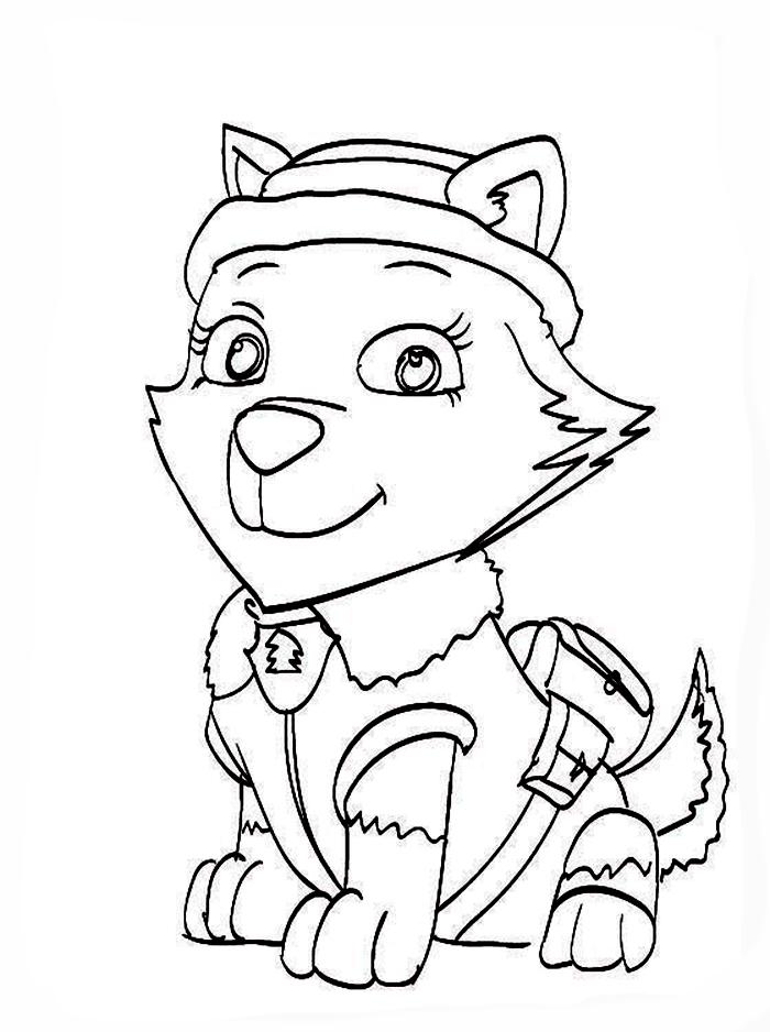 Desenho dezuma de patrulha canina para colorir zuma de patrulha canina. La Patrulla Canina - Dibujos para colorear