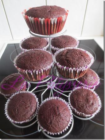 cupcakes de beterraga
