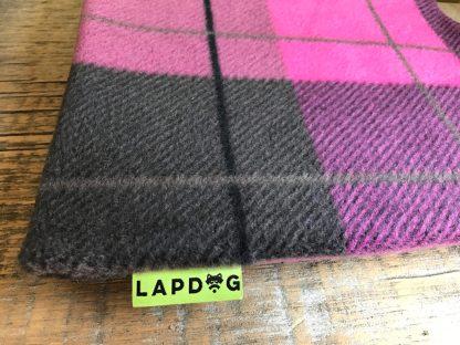 pink plaid lapdog
