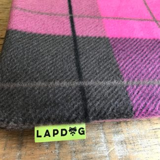pink plaid lapdog