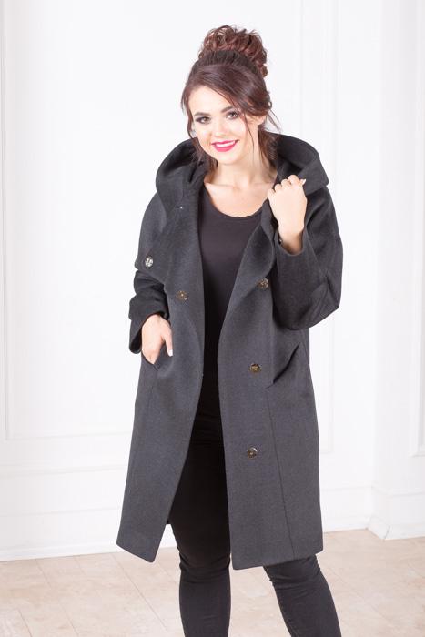 Пальто женское с капюшоном Амина