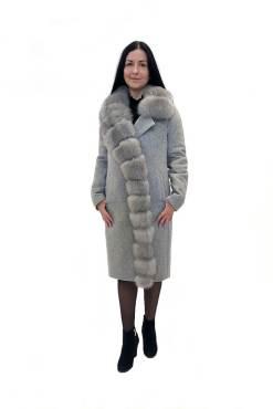 Зимнее женское пальто Ланда серое