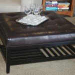 Black Leather Ottoman In New Look Royals Courage