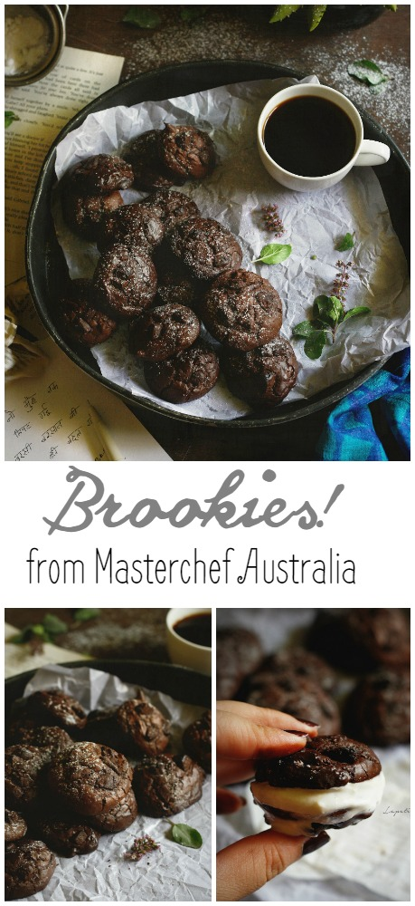 Brookies from masterchef Australia, chewy inside, perfectly crackled on top!