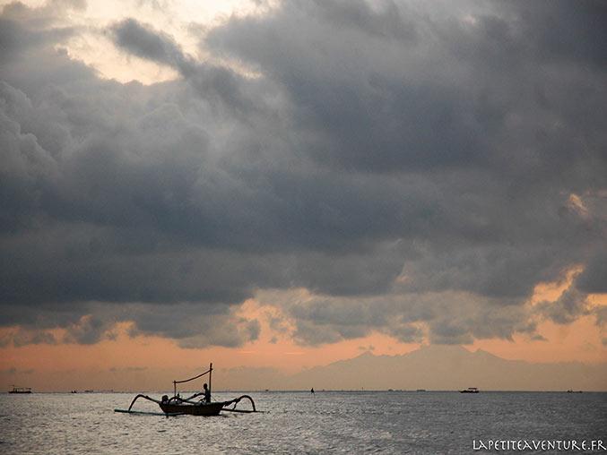 bateau à Nusa Lembogan