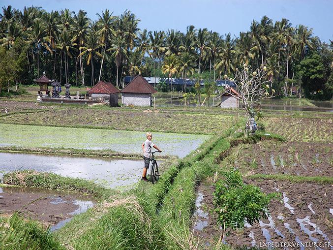 vtt sur l'île de Bali