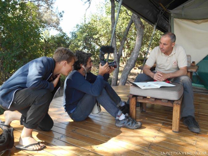 interview dans l'okavango