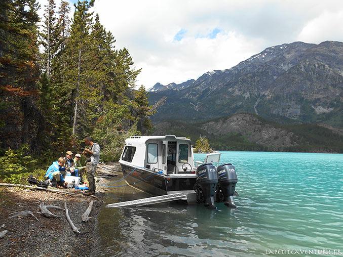 arrêt sur le Lac Chilko