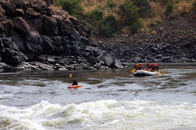 kayak sur le zambèze