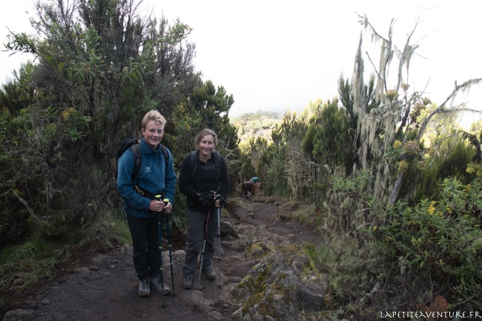 route vers machame hut