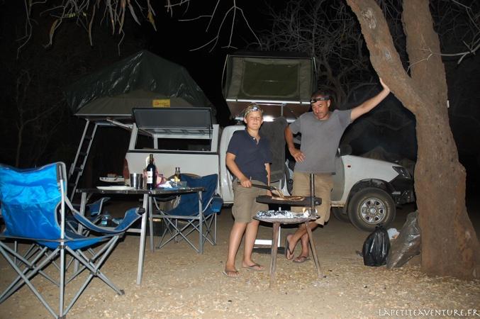 Camp au botswana