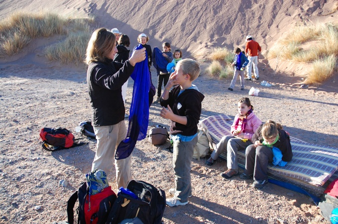 chèche dans le désert au Maroc
