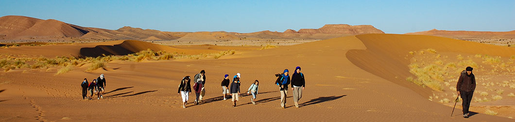 rando dans le désert au maroc