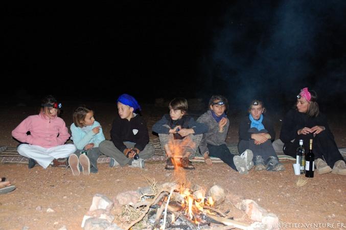 bivouac dans le désert au Maroc