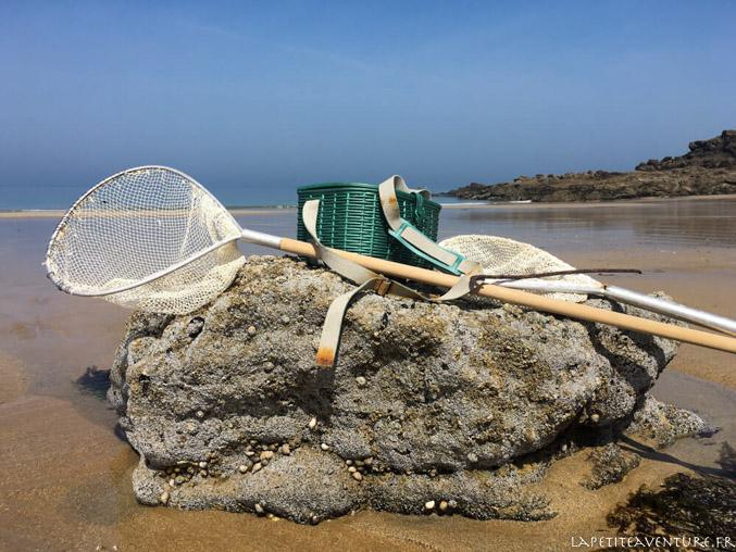 épuisette pour la pêche à pied